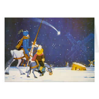 DON QUIXOTE -Christmas Card- Felicitación Navidad Greeting Card
