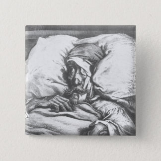 Don Quixote wounded 15 Cm Square Badge