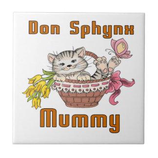 Don Sphynx Cat Mom Ceramic Tile