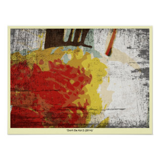 Don t Be Koi 2 Japanese Ink Style Abstract Poster