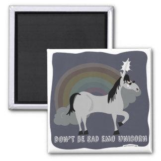 Don't Be Sad Emo Unicorn Refrigerator Magnets