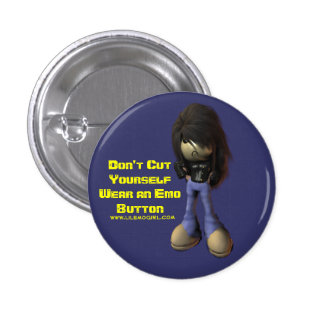 Don t Cut Yourself Wear an Emo Button