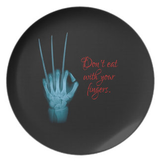 Don't Eat with Your Fingers Plate