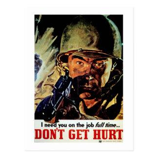 Don t Get Hurt Postcards