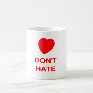 DON'T HATE White 11 oz Classic White Mug