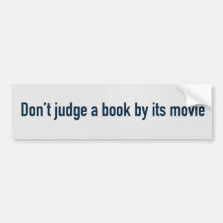 Don't judge a book by its movie bumper sticker