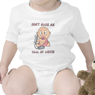Don t make me call my auntie baby bodysuit