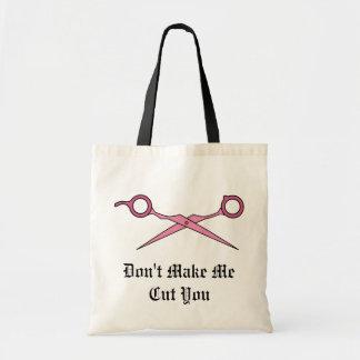 Don't Make Me Cut You (Pink Hair Cutting Scissors) Bag