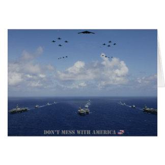 DON'T MESS WITH AMERICA Card