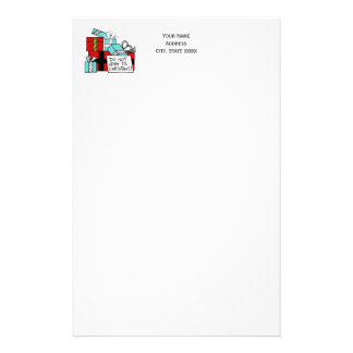 Don't Open Til Christmas Presents Xmas Stationery