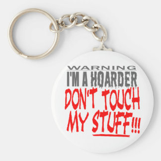 DON'T TOUCH MY STUFF! BASIC ROUND BUTTON KEY RING