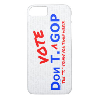 Don T. Vote GOP - Phone Case (iPhone) with BG