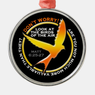 Don t Worry Christian Bird Bible Verse Religious Christmas Ornaments