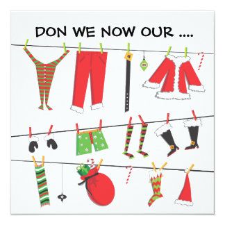 Don we now our...Christmas Party Invitations