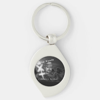 Don Woods Silver-Colored Swirl Key Ring