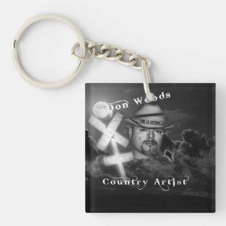 Don Woods Single-Sided Square Acrylic Key Ring