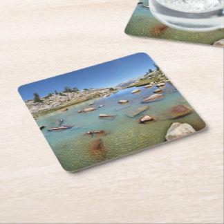 Donahue Pass Lake - Yosemite Square Paper Coaster