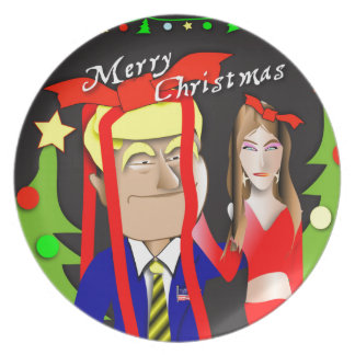Donald and Melania Gift Plate