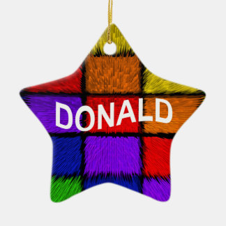DONALD CERAMIC ORNAMENT