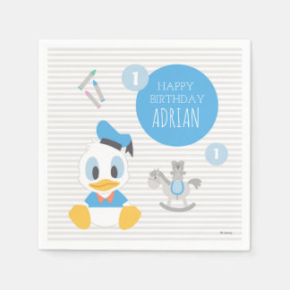 Donald Duck | First Birthday Paper Napkin