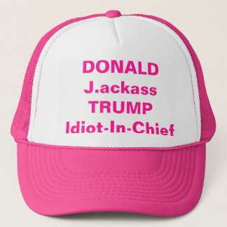 DONALD J.ackass TRUMP Trucker Hat