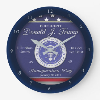 Donald J Trump Inauguration Day Commemoratve Large Clock
