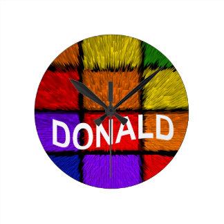DONALD ROUND CLOCK