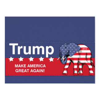 donald trump 2016 republican 17 cm x 22 cm invitation card