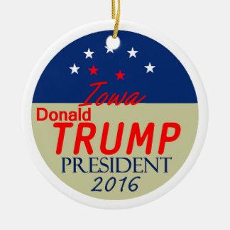 Donald TRUMP 2016 Round Ceramic Decoration