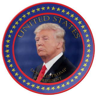 Donald Trump 45 President Plate