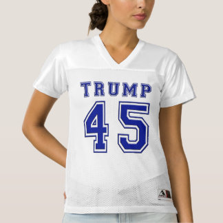 Donald Trump 45th President Blue Football Jersey
