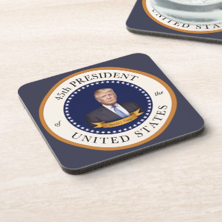 Donald Trump - 45th President of the United States Beverage Coaster