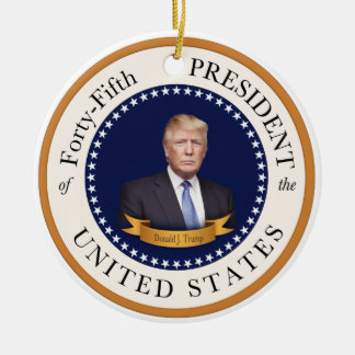 Donald Trump - 45th President of the United States Ceramic Ornament