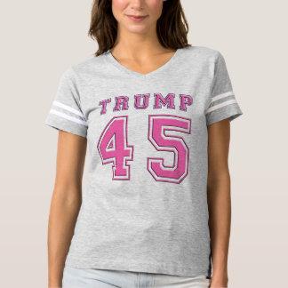 Donald Trump 45th President PINK Football T-Shirt