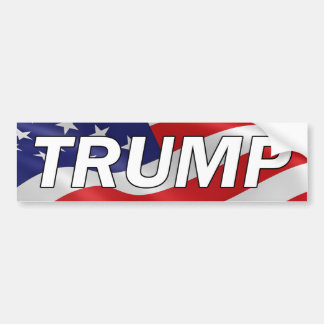 DONALD TRUMP American Flag Bumper Sticker #MAGA
