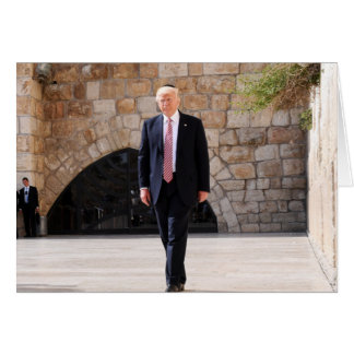 Donald Trump At Western Wall In Israel Card