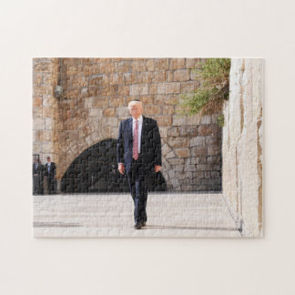 Donald Trump At Western Wall In Israel Jigsaw Puzzle