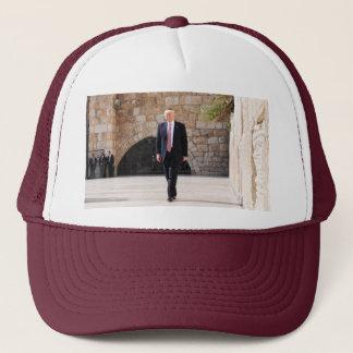 Donald Trump At Western Wall In Israel Trucker Hat