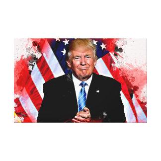 Donald Trump Celebration Painting Canvas Print