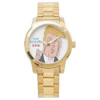 Donald Trump Comic Cartoon Billionaire Gold Watch