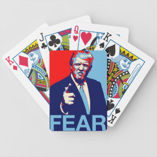 "Donald trump ""Fear"" parody poster 2017 Bicycle Playing Cards"