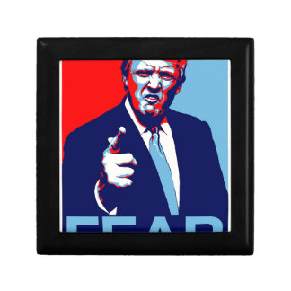 "Donald trump ""Fear"" parody poster 2017 Small Square Gift Box"