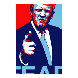 "Donald trump ""Fear"" parody poster 2017 Stationery"