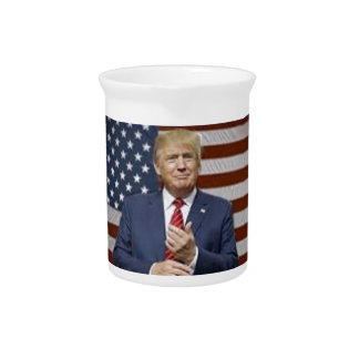 Donald Trump Flag Pitcher