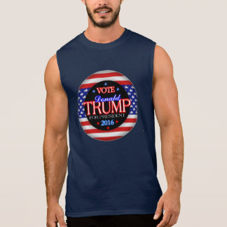 Donald Trump Flag President 2016 Sleeveless Shirt