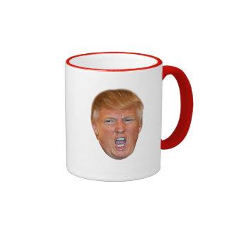 Donald Trump floating head Ringer Mug