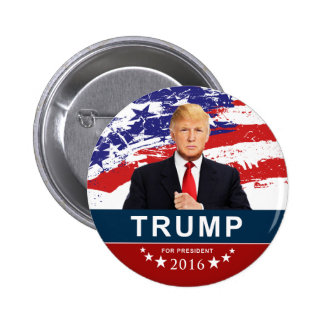 """Donald Trump for President 2016 2"""" Round Button"""