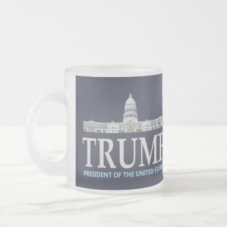 Donald Trump For President Frosted Glass Coffee Mug