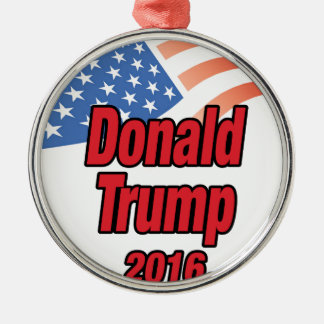Donald Trump for president in 2016 Silver-Colored Round Decoration