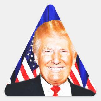 Donald TRUMP-for President of USA _ Triangle Sticker